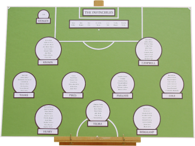 Football Pitch Wedding Table Plan, Essex