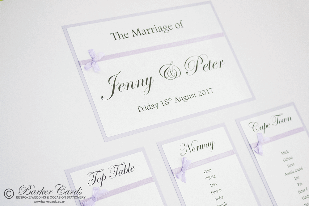 Handmade Wedding Table Plan Ideas