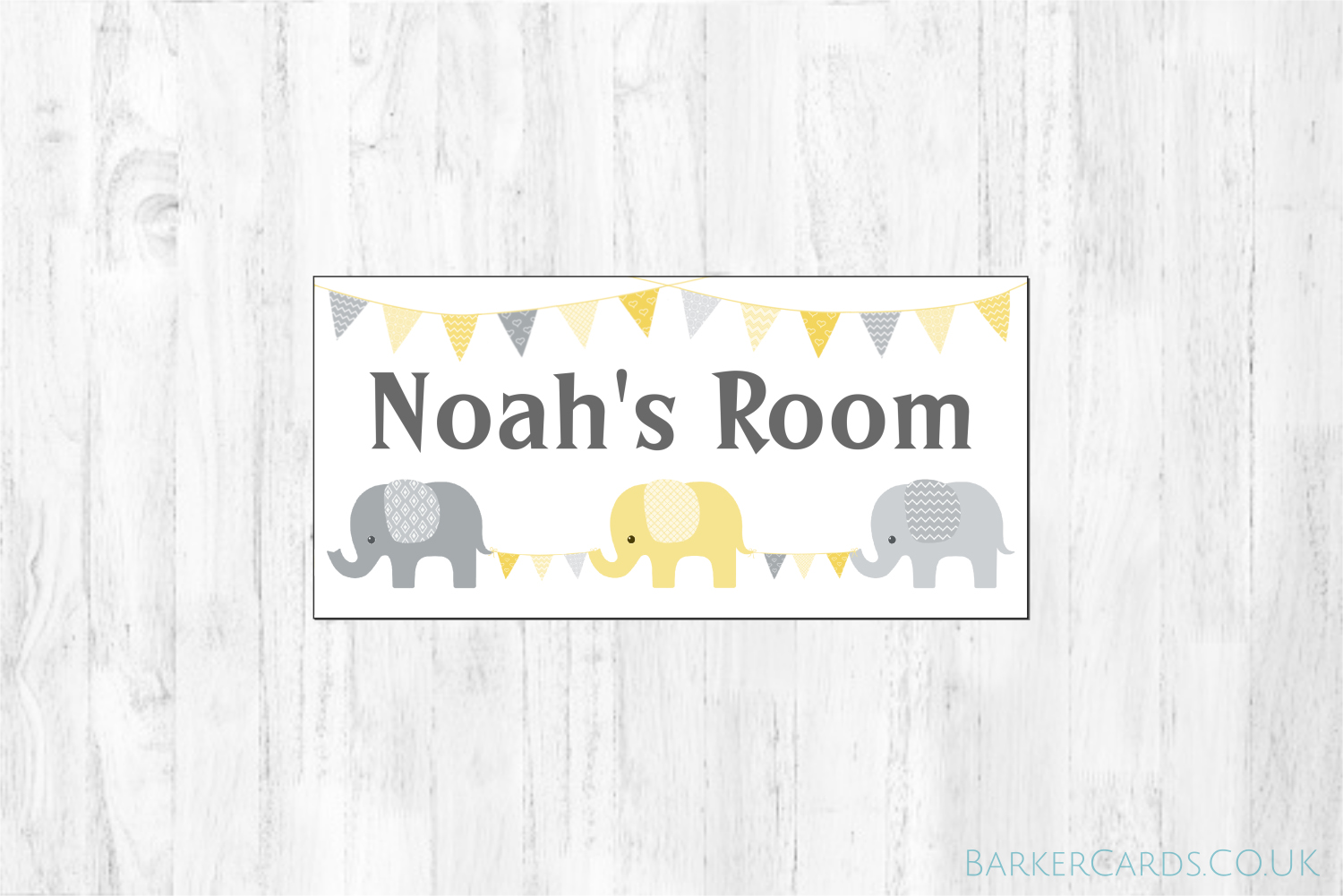 Nursery Elephant Bedroom Door Sign
