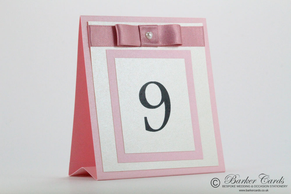 Freestanding Wedding Table Numbers Ideas