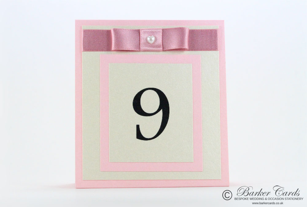 Freestanding Wedding Table Numbers