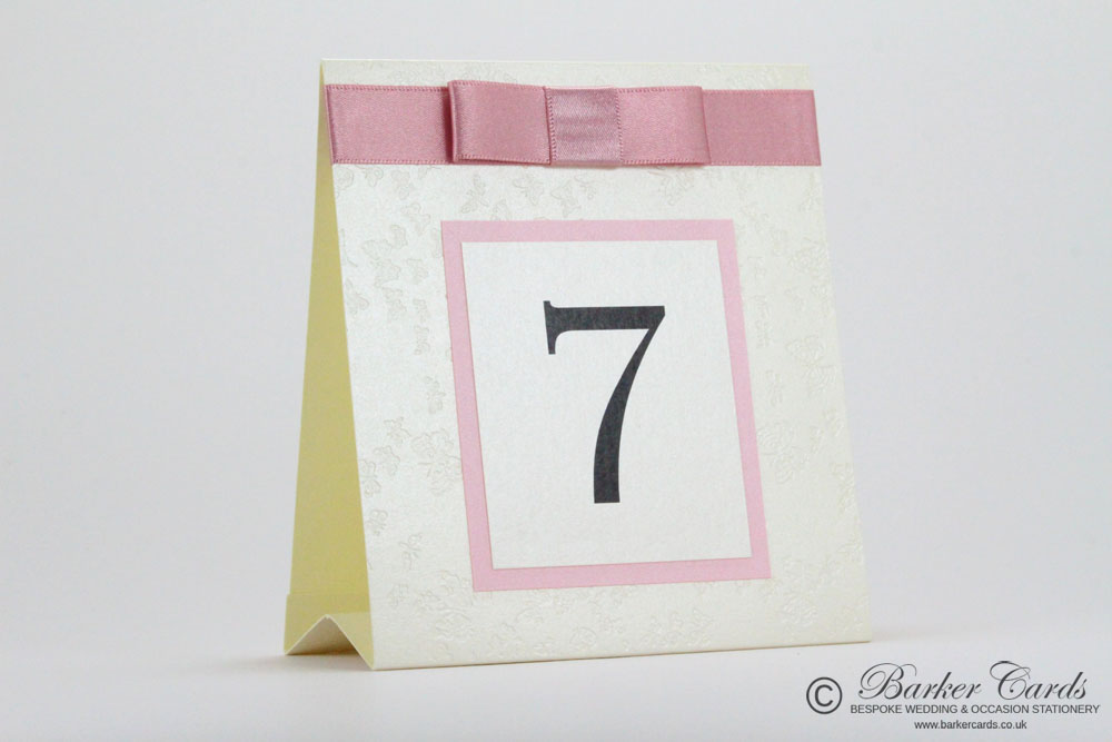 Small Wedding Table Numbers Ideas