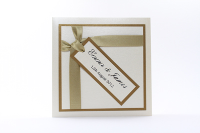 Wish Wedding Invitation Neutral Champagne / Gold / Straw and Cream / Ivory