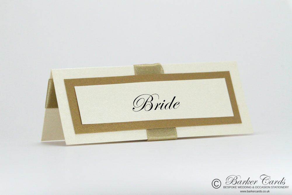Wedding Place Cards Neutral Gold / Champagne / Straw and Cream / Ivory