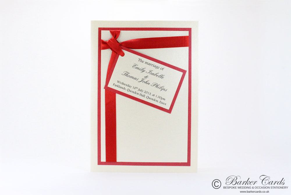 Wedding Orders of Service