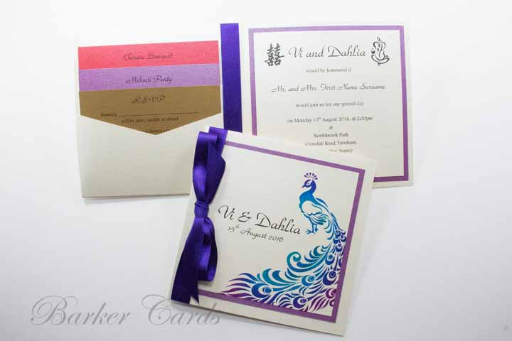 Digital Printing of Wedding Invitations and Wedding Stationery from your Design.
