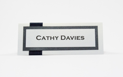 Wedding Place Card Modern / Contemporary Style Black and White
