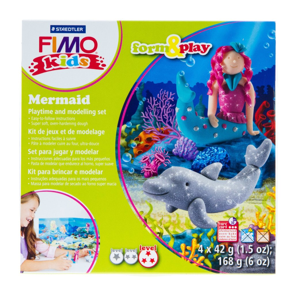 Fimo Kids Form & Play Mermaid Playtime and Modelling Set