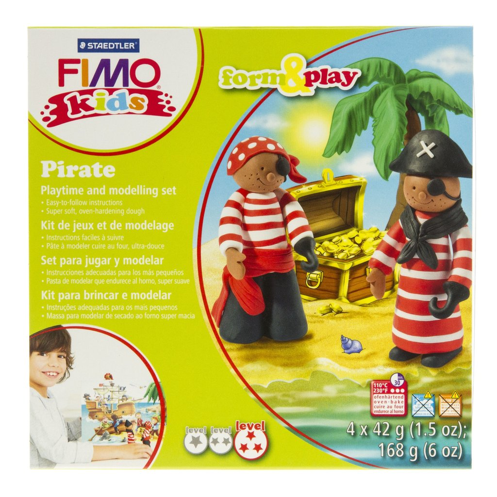 Fimo Kids Form & Play Pirate Playtime and Modelling Set
