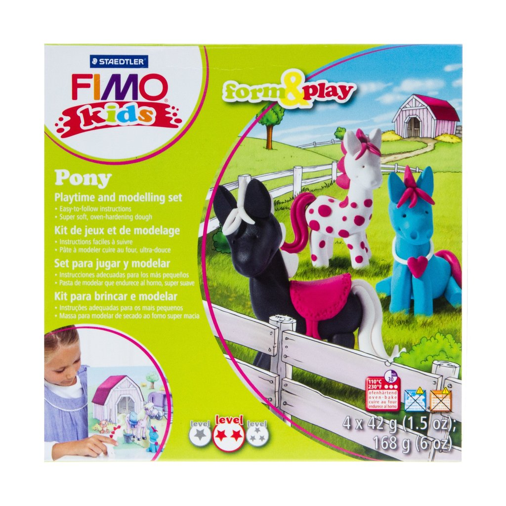 Fimo Kids Form & Play Pony Playtime and Modelling Set