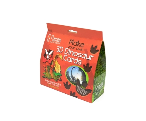 Natural History Museum - 3D dinosaur Cards Kit