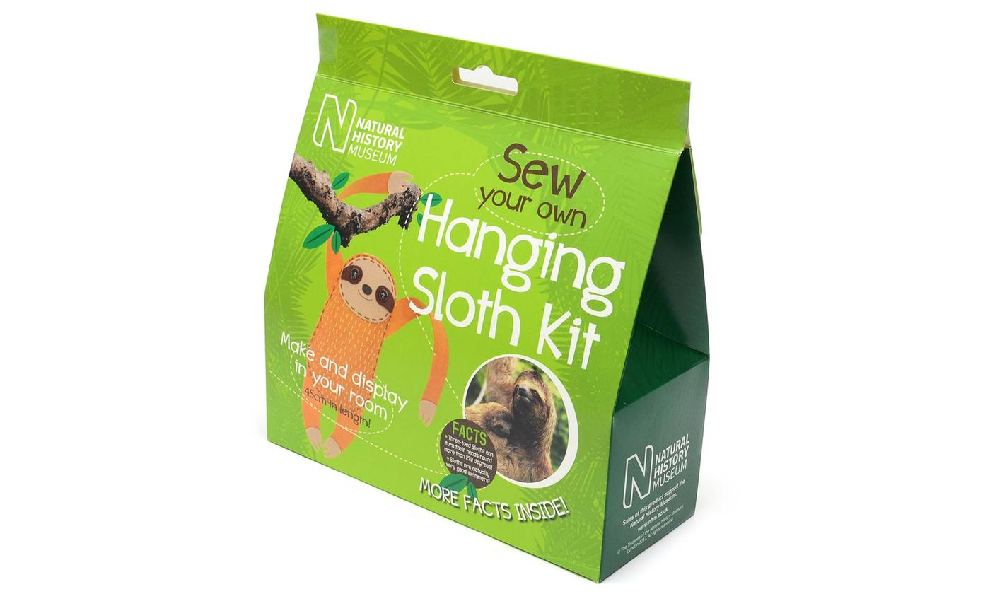 Natural History Museum - Sew Your Own Hanging Sloth Kit