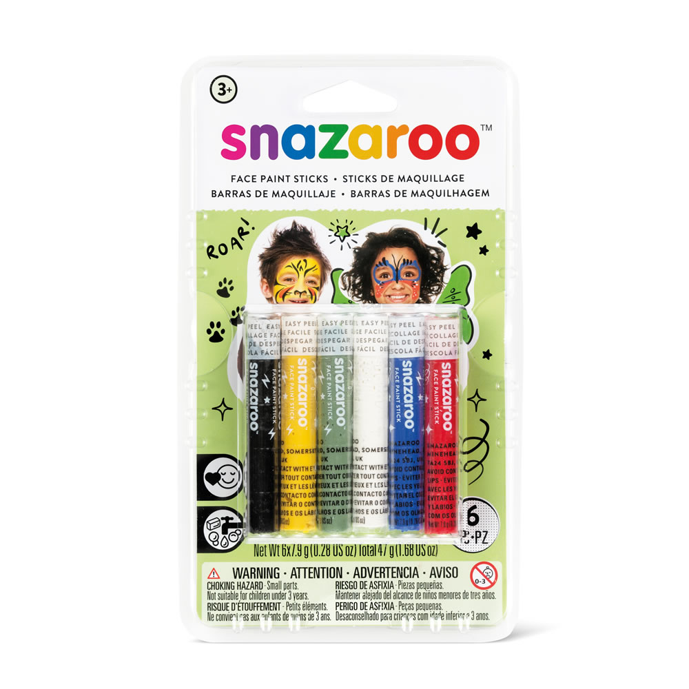 Snazaroo Face Painting Sticks (pack of 6)