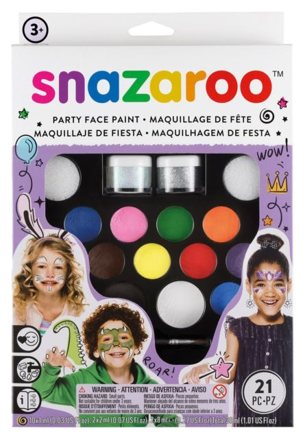 Snazaroo Face Paint Ultimate Party Pack (21 pieces)
