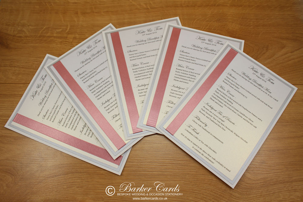 Simple Elegant Wedding Menu Ideas