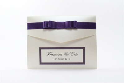 Purple Pocketfold Wedding Invitations