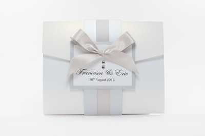 Pearlescent Pocketfold Invitations