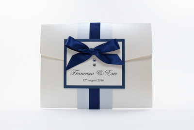 Wedding Invitations Pocketfold Navy