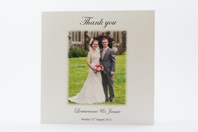 Photo Wedding Thank You Card Simple elegance 